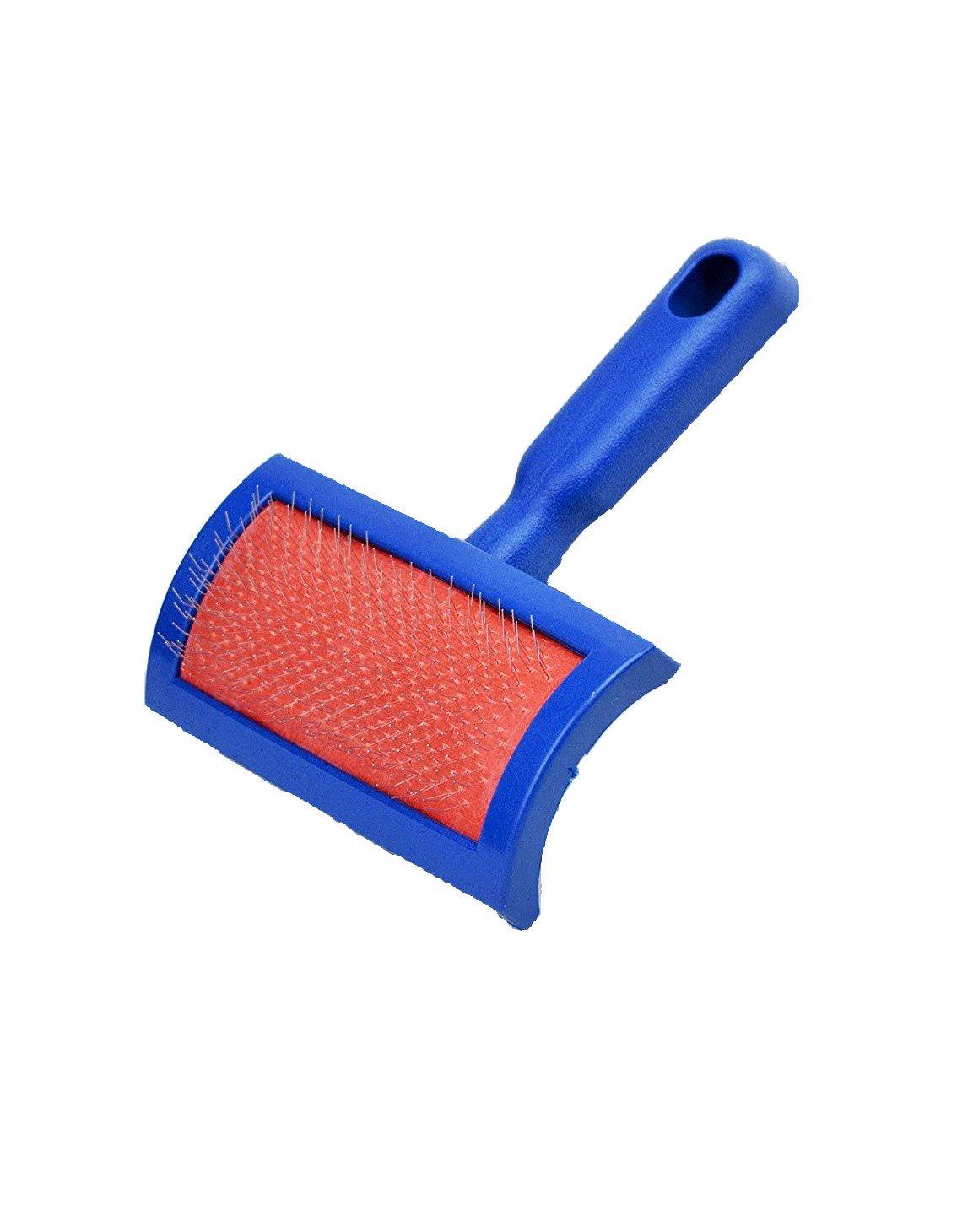 Naturasan Fellbürste für Lammfelle und Schaffelle, Leichte Universal-Pflegebürste für viele Fellarten, auch als Fellbürste für Haustiere, Hunde, Katzen, Kaninchen brush-01-blue