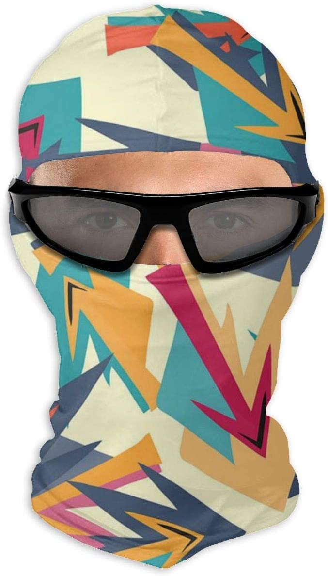 NOBRAND Máscara de cara completa brillante en estilo grafiti máscara de protección solar de doble capa fría para hombres y mujeres