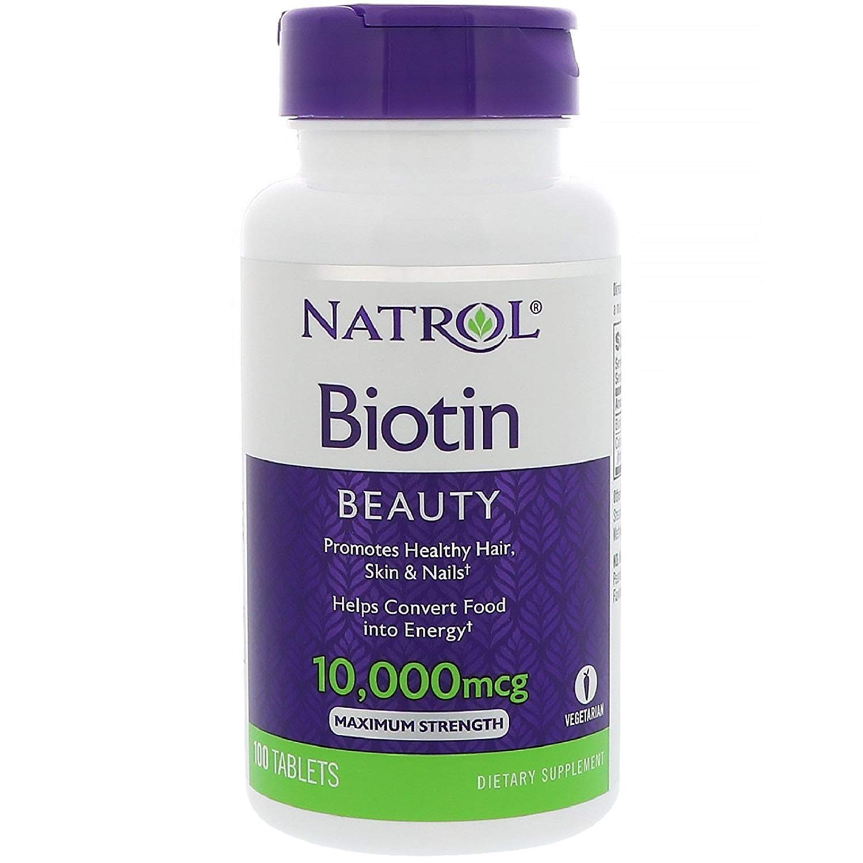 Natrol Biotin 10000 mcg, 100 Count, Pack of 2