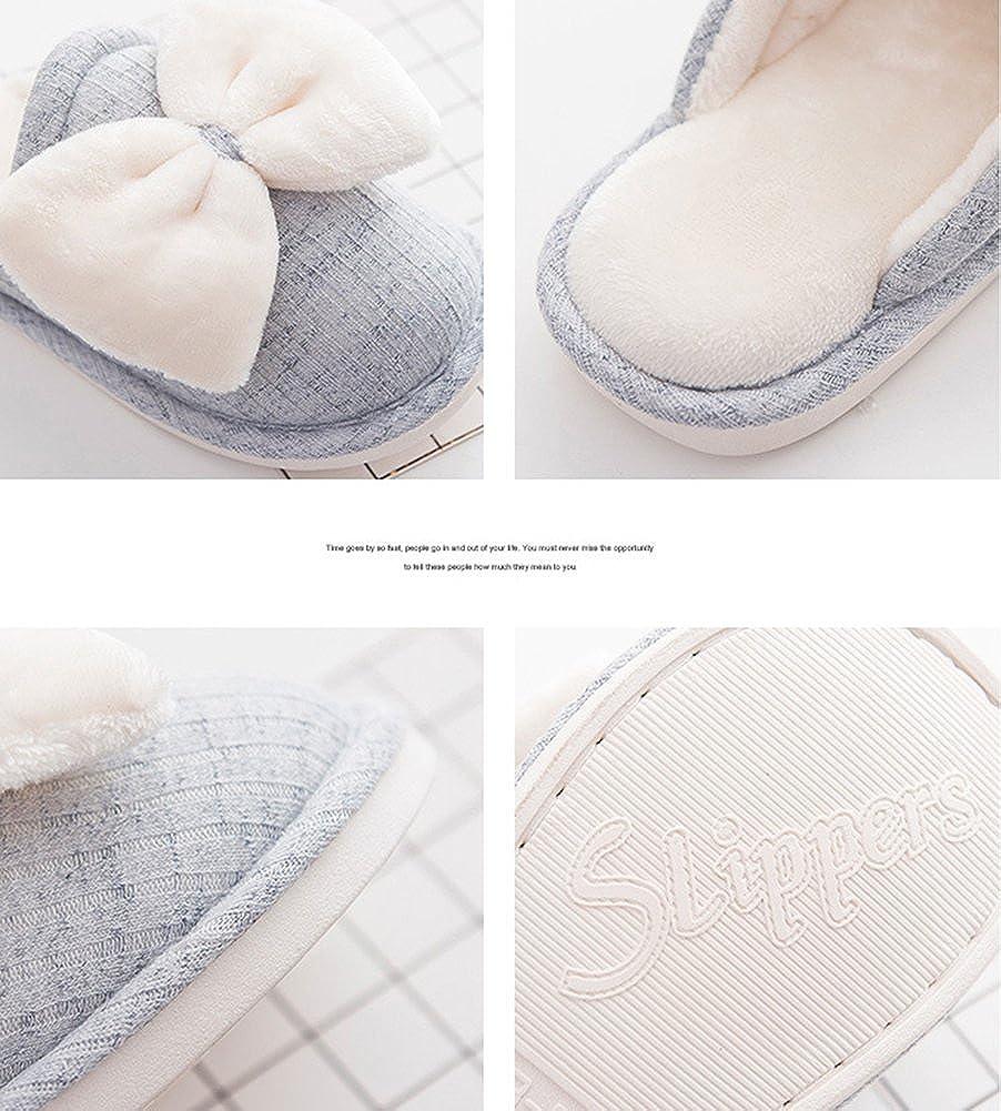 Amazon.com | Nerig Stylish Ladies Cute Bowknot Winter Comfort Women Slippers | Slippers
