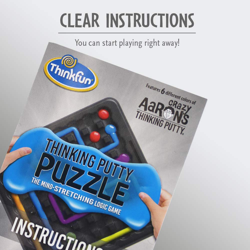 ThinkFun and Crazy Aaron's Thinking Putty Puzzle and STEM Toy for Boys and Girls Ages 8 and Up - The Famous Thinking Putty in Logic Game Form by Think Fun (Image #5)