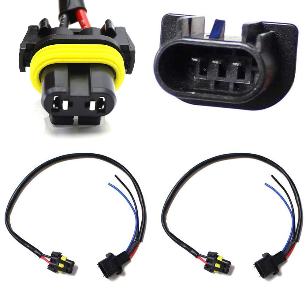 Ijdmtoy 2 9006 To 9007 Conversion Wires Adapters Power 1997 Chevy Wiring Harness For Fisher Free Download Cords Headlight Retrofit Or Hid Kit Installation Automotive