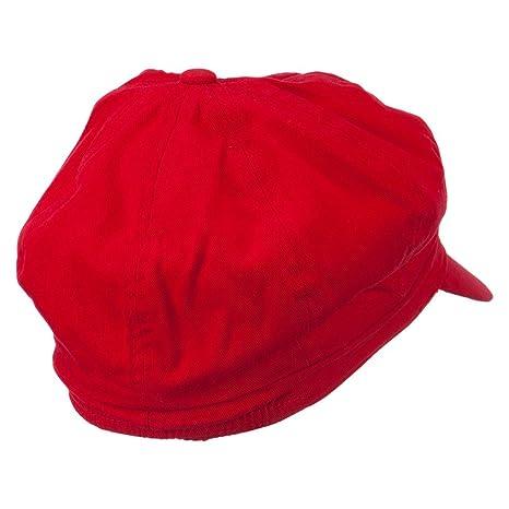 7f38ebfbf Circle Mario and Luigi Embroidered Cotton Red Newsboy Cap - Red ML