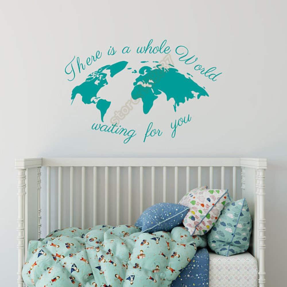 woyaofal Hay un Mundo Entero esperándote Mapa del Mundo Vinilo ...