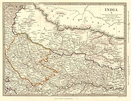 Amazoncom INDIA X NEPAL NORTHERN INDIA Oude To Allahabad - Allahabad map