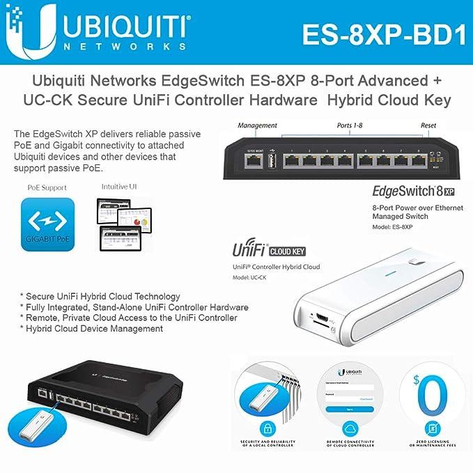 Amazon com: EdgeSwitch ES-8XP 8-Port Advanced + UC-CK Secure