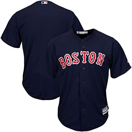 ffdd60c748e VF Boston Red Sox MLB Mens Majestic Cool Base Replica Jersey Navy Blue Big    Tall