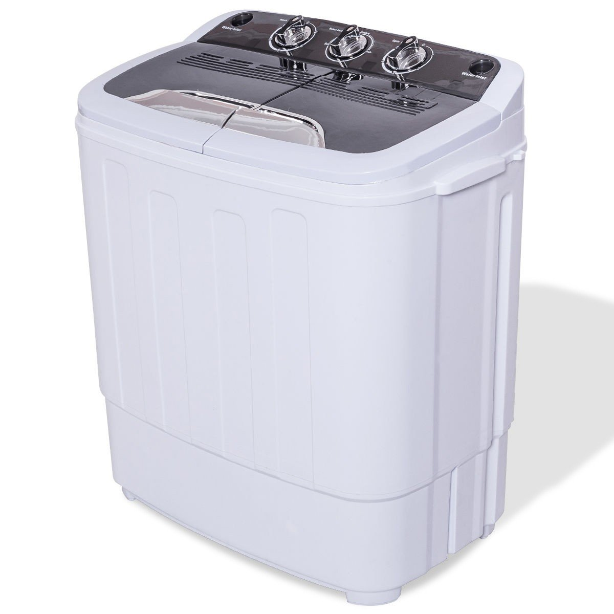 MD Group 8 lbs Compact Mini Twin Tub Washing Machine Washer Spiner