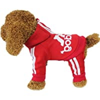 LifeWheel Pet Cat Dog Sweater Hoodies Jacket Pullover Coat Clothes For Winter(Red,M) by LifeWheel