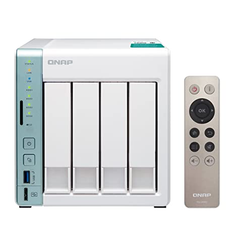 QNAP TS-451A-4G-US Personal Cloud NAS/Das with USB Direct Access, HDMI  Local Display (4GB Ram Version) (TS-451A-4G-Us) Green, White