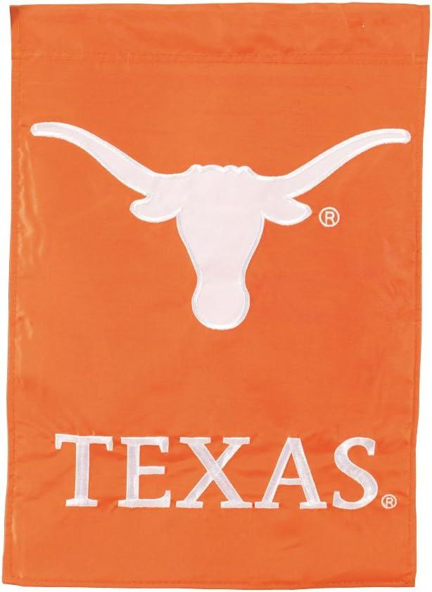 Texas Longhorns Official NCAA 12.5 inch x 18 inch Applique Garden Flag by Evergreen by Football Fanatics