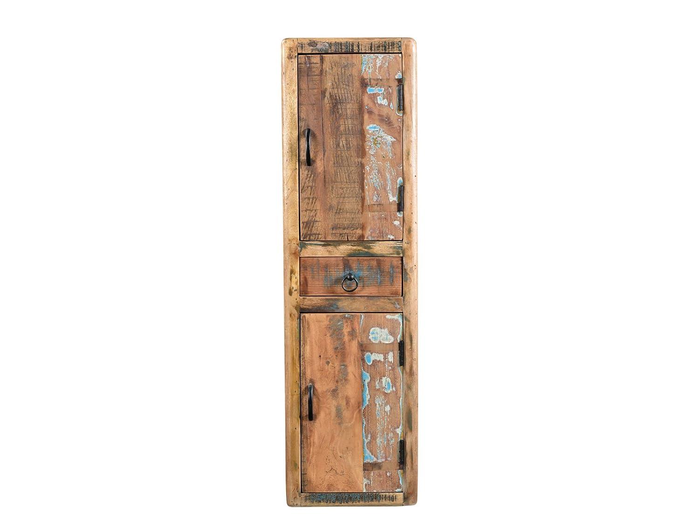 Woodkings Bad Hochschrank Kalkutta recyceltes Holz bunt rustikal ...