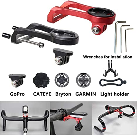 Out-Front Bike Mount Road Bicycle Handlebar Bike Computers Mount for GARMIN CATEYE Camera Adapter for Gopro Sony