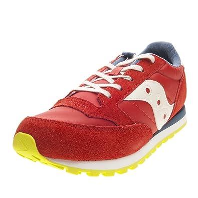 e7adef1c237d Saucony Boys  Jazz Original Boys Gymnastics Shoes red red   blue red Size   UK