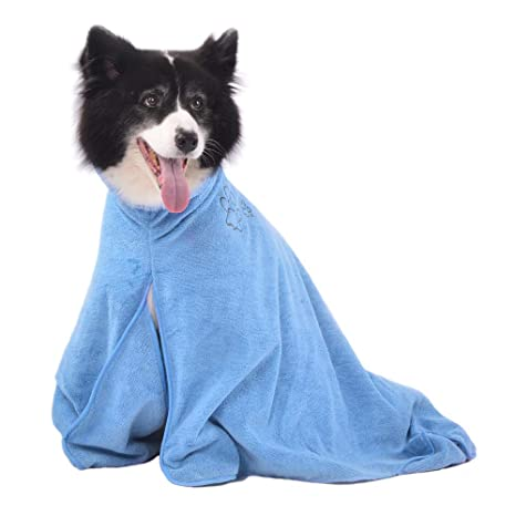 Winthome Dog Bathrobe - Quick Drying Microfiber Bathrobe for Dog Cat Pet - Puppy  Bath Towel - Absorption Bath Towels - Keeps Your Dog e69562e92
