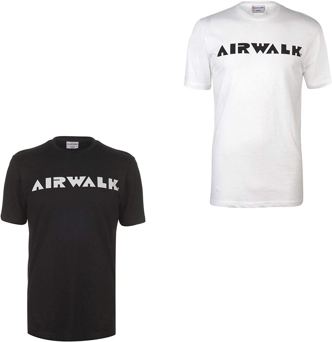 Airwalk Logo T-Shirt Mens Activewear Skateboarding Top Tee Shirt White Small