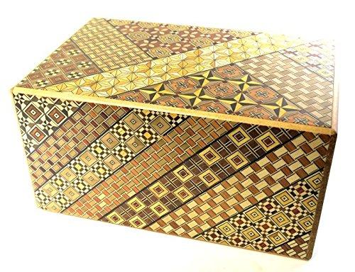 Yosegi Pattern 7 sun 9 Step Japanese Puzzle Box
