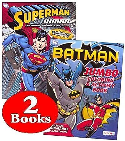 DC Comics Batman & Superman Coloring and Activity Book Set