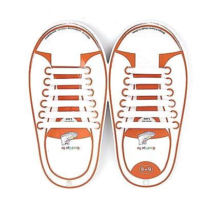 KUYiA Sin Corbata Cordones de Zapatos, Impermeables de Silicona ...