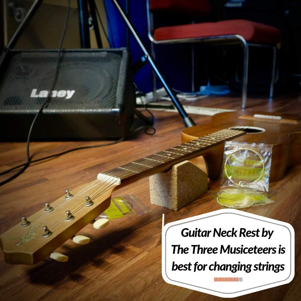 By The Three Musiceteers Guitar Neck Rest Guitar Neck Cradle Best For String Instrument Neck Support Guitar Repair Tools