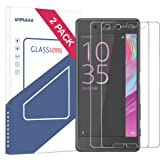 Sony Xperia X Screen Protector,Wimaha 2 Pack 9H Tempered Glass Screen Protector for Sony Xperia X and Sony Xperia X Performance Anti Scratch Bubble Free