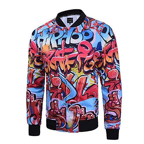 de reflectante chaqueta chaqueta hombres béisbol chaqueta otoño de los XL Chaqueta casual Hombres retro e invierno hombres impresión ZqgzxdvZOw