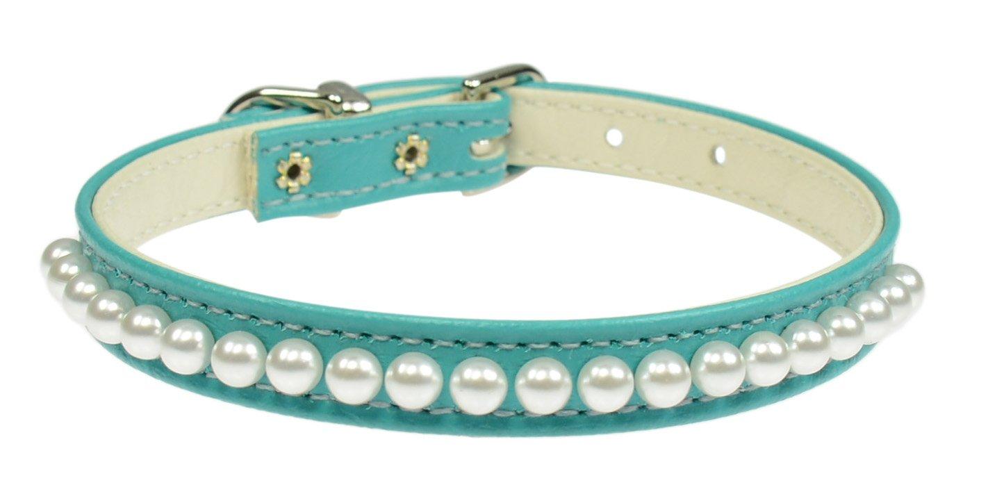 Evans Collars 3 8 Pearl Collar Size 10 Vinyl Turquoise