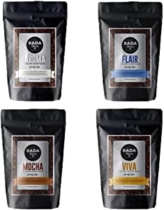 Bada Bean Coffee, Variety Pack, Roasted Beans, 1kg. Fresh Roasted Daily. Award Winning Speciality Coffee Beans. Ground for Plunger)