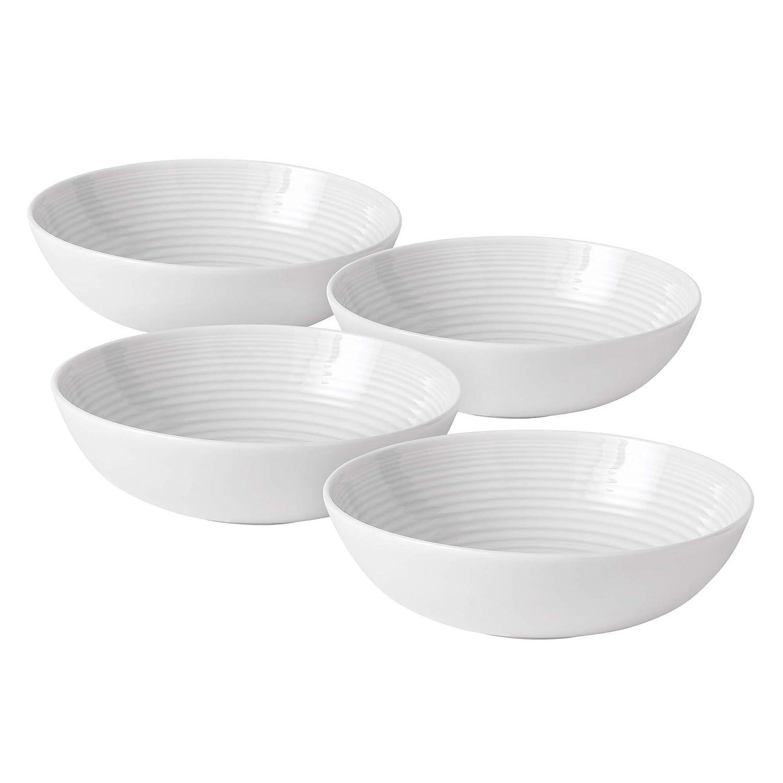 Royal Doulton GRMZWH24387 Maze Open Vegetable/Pasta Bowl (Set of 4), White