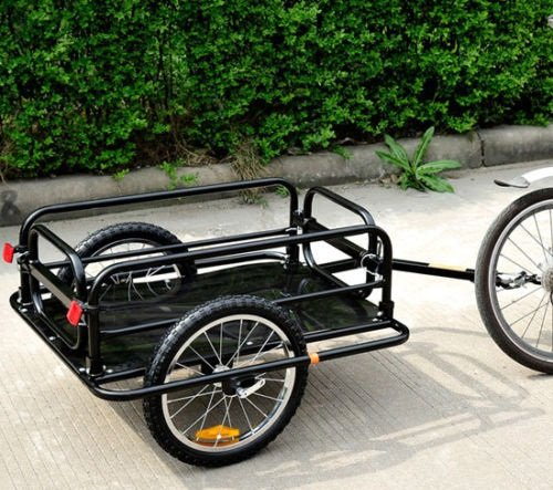 Associated product image for Folding Bicycle Cargo Trailer Utility Bike Cart Carrier Garden Patio Tool