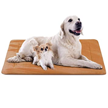 Hero Dog Colchoneta Grande Suave para Perros - 100% Lavable A Máquina, Colchón Antideslizante De Color Intenso (XL(120 x 85 CM), Café)