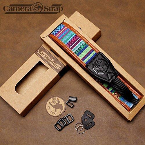 Nicama Camera shoulder Neck Strap Retro Vintage VNS Soft Multi-color Belt for DSLR Canon Fuji Nikon Olympus Panasonic Pentax Fujifilm X100F X-T20 X-T2 X 70 X-Pro2,Sony A6000 A630