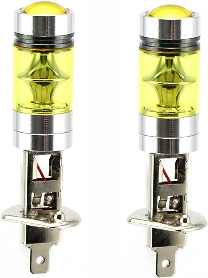 2 x H1 LED Niebla luz Bombilla 100W Alta Potencia 2835 SMD oro ...