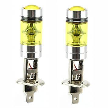 2 x H1 LED Niebla luz Bombilla 100W Alta Potencia 2835 SMD oro Amarillo Bombillas LED