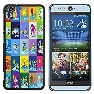 Dragon Case - FOR HTC Desire EYE M910x - Genius only means hard-working - Caja protectora de pl??stico duro de la cubierta Dise?¡Ào Slim Fit