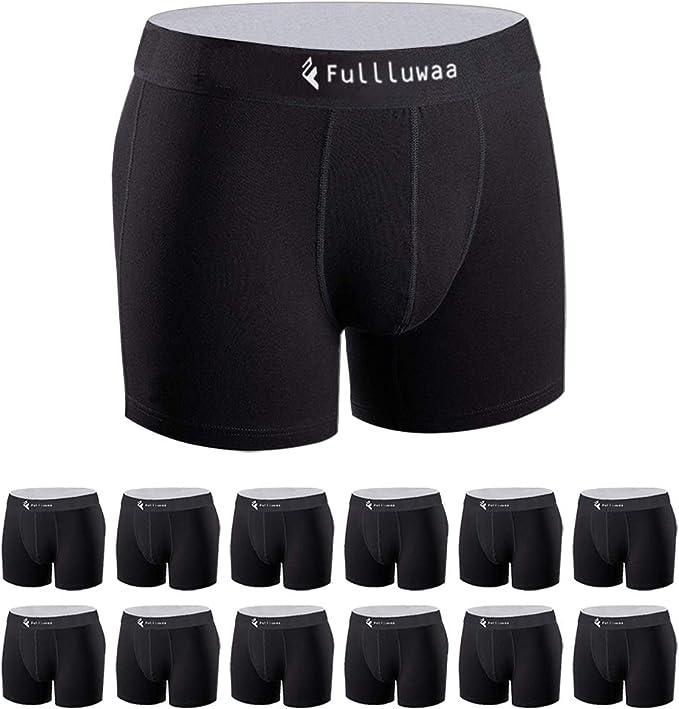 Fullluwaa Bóxer (Pack de 12) Hombre Algodón Calzoncillos: Amazon ...