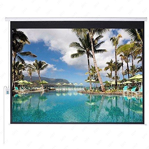 Gracelove 100'' HD Motorized 4:3 Projector Screen W/ Remote Control (100 inch) by Love+Grace
