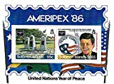 President Kennedy stamps for collectors - United Nations year of peace - 2 superb stamps - Ideal for stamp collecting - Mint NH