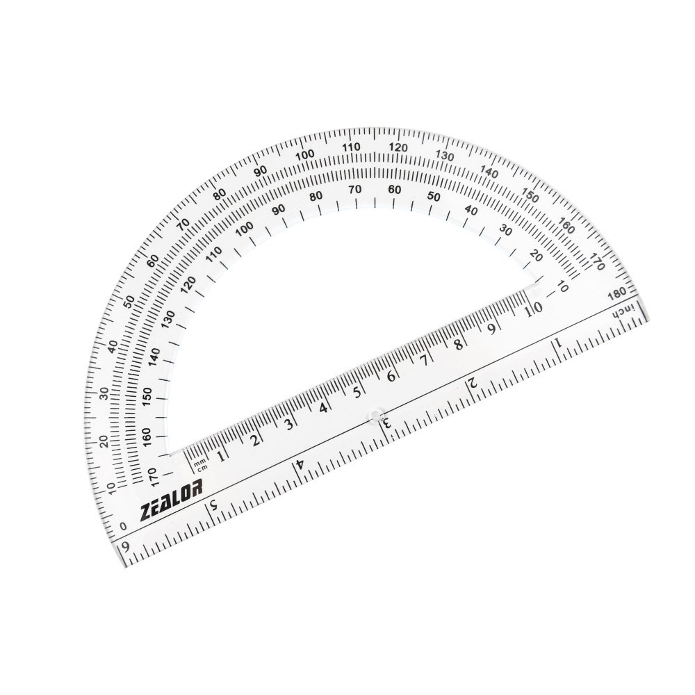 Zealor 24 Pack Plastic Protractors Clear Math Protractor 180 Degrees (6 Inch) by Zealor (Image #5)