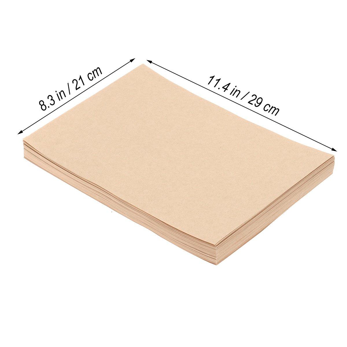 papeler/ía en blanco Vintage cajas de tarjeta retro para oficina en el hogar inm/óvil NUOLUX A4 papel de Kraft 50 hojas