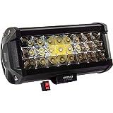 Faro en LED con luz concentrada de alta intensidad de 72w con 18 led y función estrobo, sirve como luz de respaldo para motos