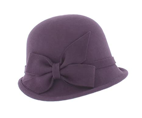 f9d39c42c6f7e8 Tilly Ladies Wool Vintage Style Cloche Hat (4149) (Amethyst): Amazon ...