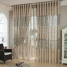ABC® Tree leaf Tulle Door Window Curtain Drape Panel Sheer Scarf Valances