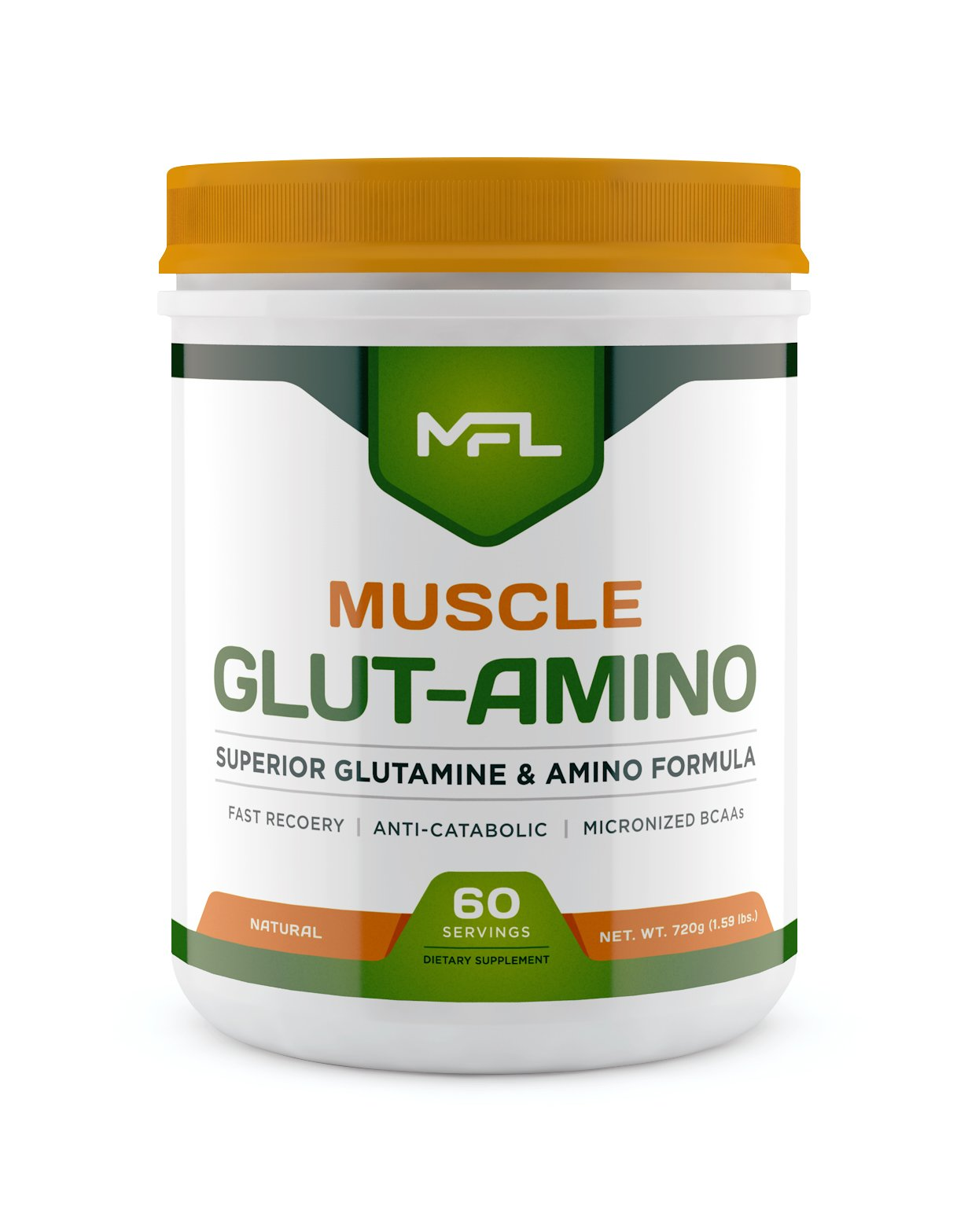 MUSCLE FOOD LABS Muscle GLUT-AMINO ★ Glutamine & Amino Blend (Natural)