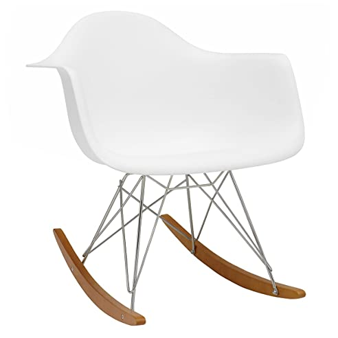 vitra 4401130004 stuhl rar eames plastic armchair gestell verchromt wei - Eames Stuhl Wei
