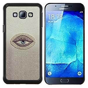 Sleepy Lazy Cansado minimalista Cínico- Metal de aluminio y de plástico duro Caja del teléfono - Negro - Samsung Galaxy A8 / SM-A800