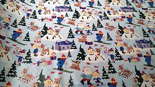 Christmas Wrapping Rudolph The Red Nosed Reindeer Holiday Paper Gift Greetings 1 Roll Design Festive Rudolph Snow