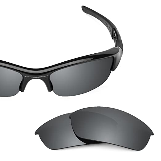 cae1c818bd Revant Polarized Replacement Lenses for Oakley Flak Jacket Elite Black  Chrome MirrorShield