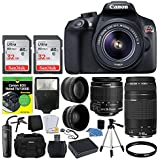 Canon EOS Rebel DSLR T6 Camera Body + Canon 18-55mm EF-S IS II Autofocus Lens + Canon Zoom EF 75-300mm III Autofocus Lens + 64GB Memory Card + T6/1300D for Dummies + Photo4Less Gadget Bag – Top Bundle