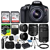 Cheap Canon EOS Rebel DSLR T6 Camera Body + Canon 18-55mm EF-S IS II Autofocus Lens + Canon Zoom EF 75-300mm III Autofocus Lens + 64GB Memory Card + T6/1300D for Dummies + Photo4Less Gadget Bag – Top Bundle